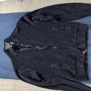 Banana Republic Zip Up Fleece Sweater